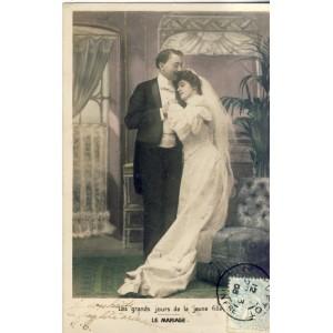 CARTE POSTALE MARIAGE - LES GRANDS JOURS DE LA JEUNE FILLE