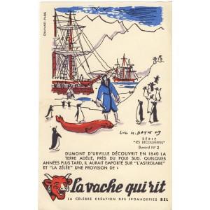 BUVARD LA VACHE QUI RIT -  LES DECOUVERTES N°2 - DUMONT D'URVILLE