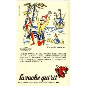 BUVARD LA VACHE QUI RIT -  LES DECOUVERTES N°3 - JACQUES CARTIER