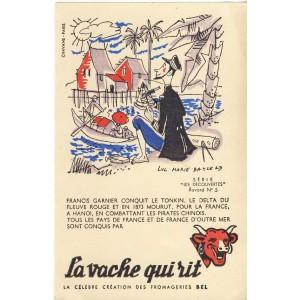 BUVARD LA VACHE QUI RIT -  LES DECOUVERTES N°5 - FRANCIS GARNIER