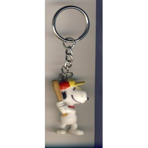 PORTE CLES SNOOPY JOUE AU BASE BALL