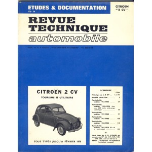 REVUE TECHNIQUE AUTOMOBILE ETUDES ET DOCUMENTATION - CITROEN 2CV - 1974