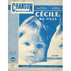 PARTITION DE CLAUDE NOUGARO CECILE, MA FILLE