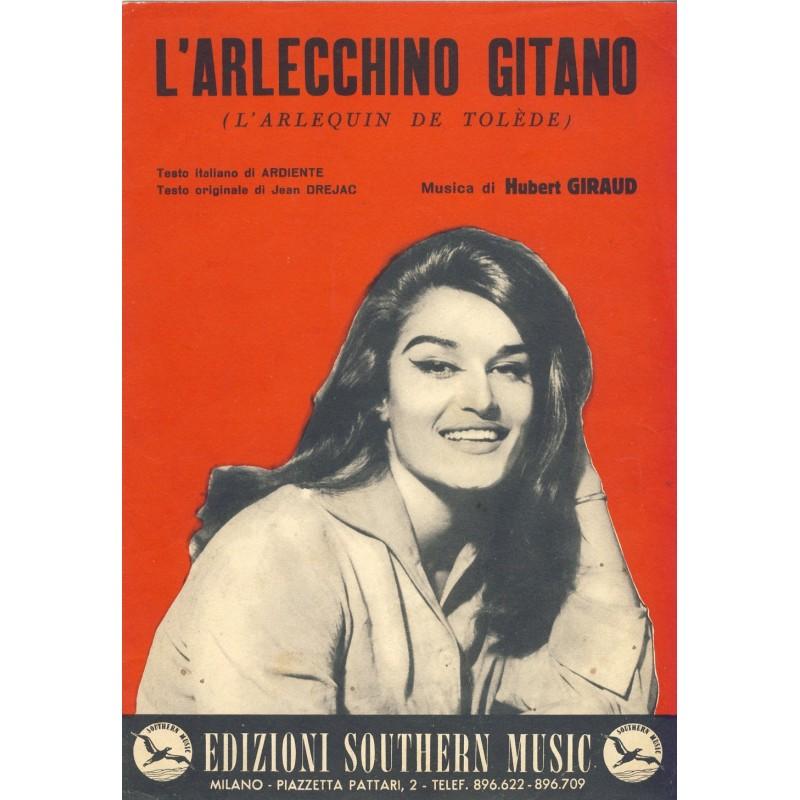 PARTITION DE DALIDA - L'ARLECCHINO GITANO (L'ARLEQUIN DE TOLEDE)