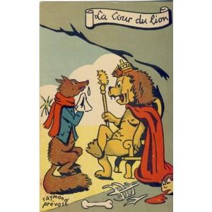 CARTE POSTALE RAYMOND PREVOST - LA COUR DU LION