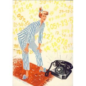 CARTE POSTALE PUBLICITAIRE - NOUS AVONS LE TELEPHONE !