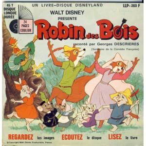 LIVRE-DISQUE 45 TOURS ROBIN DES BOIS - WALT DISNEY