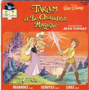 LIVRE-DISQUE 45 TOURS TARAM ET LE CHAUDRON MAGIQUE - WALT DISNEY