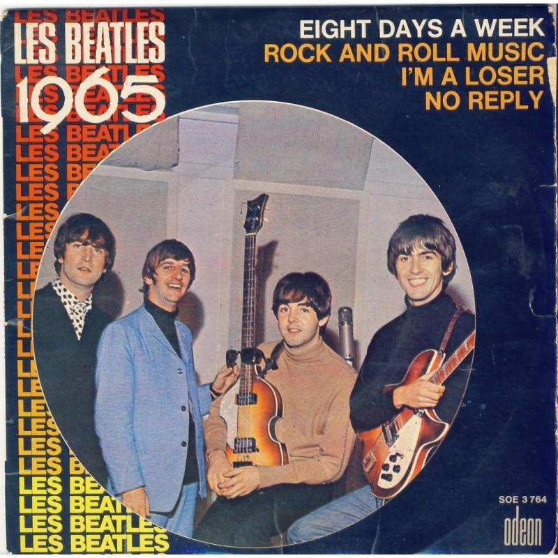 DISQUE 45 TOURS 17 cm EP BIEM -  LES BEATLES 1965