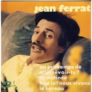 DISQUE 45 TOURS 17 cm EP - BIEM.  JEAN FERRAT