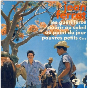 DISQUE 45 TOURS 17 cm EP - BIEM.  Jean FERRAT - LES GUERILLEROS