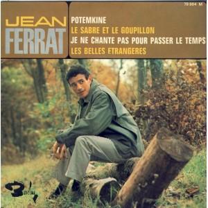 DISQUE 45 TOURS 17 cm EP - BIEM.  JEAN FERRAT - POTEMKINE