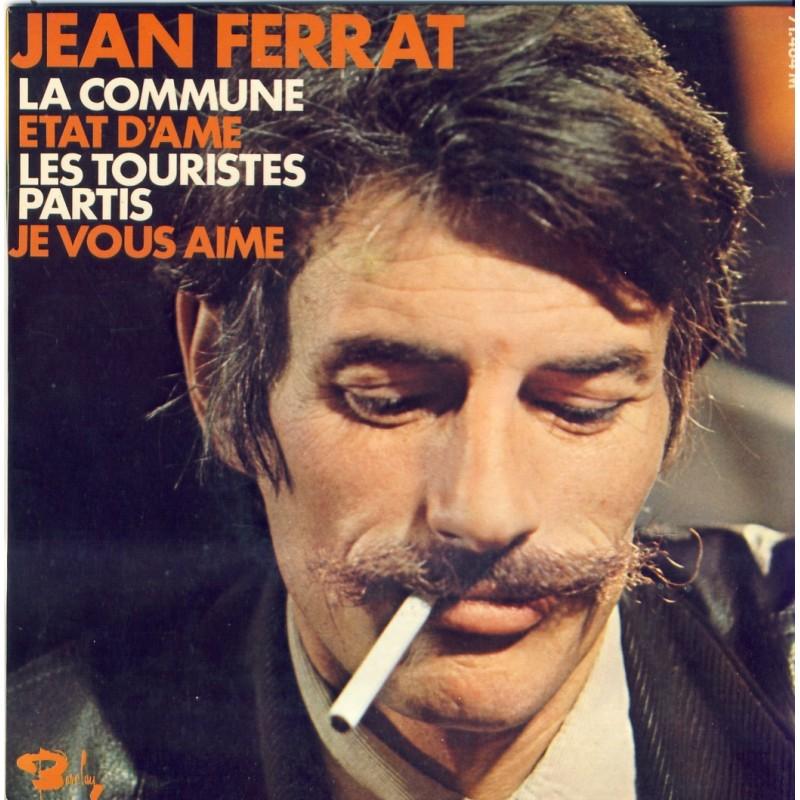 DISQUE 45 TOURS 17 cm EP - BIEM.  JEAN FERRAT - LA COMMUNE