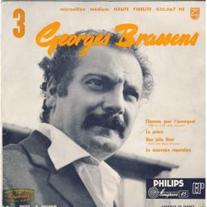 DISQUE 45 TOURS 17 cm EP - BIEM.  GEORGES BRASSENS ET SA GUITARE N°3