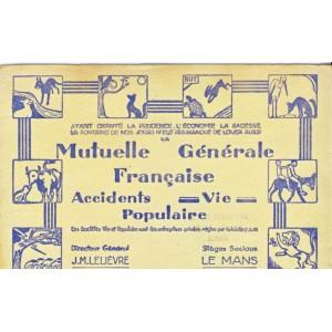 BUVARD MUTUELLE GENERALE FRANCAISE POPULAIRE - LE MANS