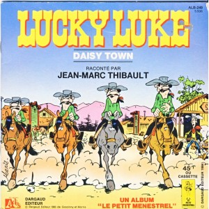 LIVRE-DISQUE 45 TOURS LUCKY LUKE - DAISY TOWN