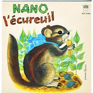 DISQUE 45 TOURS AVEC COLORIAGE - NANO L'ECUREUIL