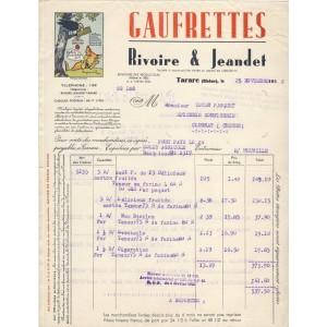 FACTURE GAUFRETTES RIVOIRE ET JEANDET - TARARE