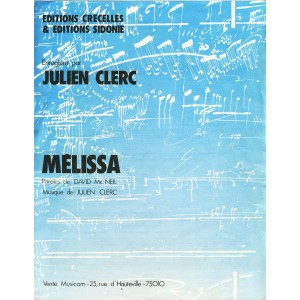 PARTITION DE JULIEN CLERC - MELISSA