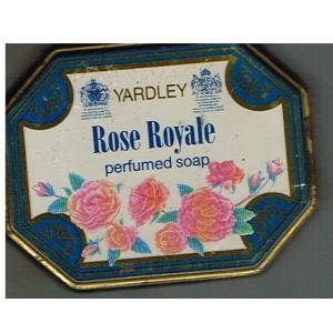 BOITE PUBLICITAIRE POUR SAVON PARFUME ROSE ROYALE YARDLEY