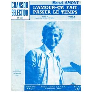 PARTITION DE MARCEL AMONT - L'AMOUR CA FAIT PASSER LE TEMPS