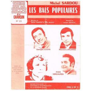 PARTITION MICHEL SARDOU - LES BALS POPULAIRES
