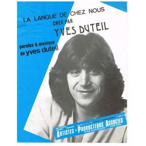 PARTITION YVES DUTEIL - LA LANGUE DE CHEZ NOUS