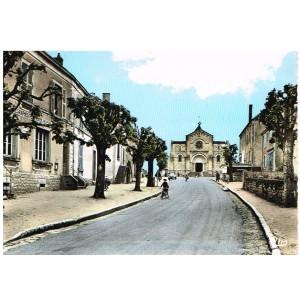 Carte Postale de SAONE ET LOIRE - 71 - PALINGES - RUE DE LA GARE