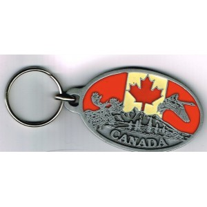 PORTE CLES METAL EMAILLE - CANADA
