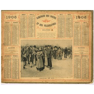 CALENDRIER ALMANACH 1906  CHANTEURS DES RUES