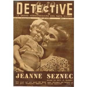 DETECTIVE N° 159  JUILLET 1949 - JEANNE SEZNEC