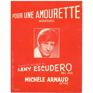 PARTITION LENY ESCUDERO - POUR UNE AMOURETTE