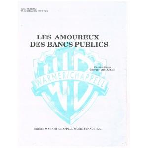PARTITION DE GEORGES BRASSENS - LES AMOUREUX DES BANCS PUBLICS