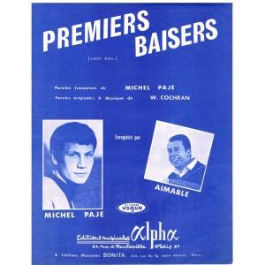 PARTITION DE MICHEL PAJE - PREMIERS BAISERS