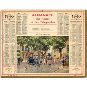 CALENDRIER ALMANACH 1940 - PLACE DE CASSIS
