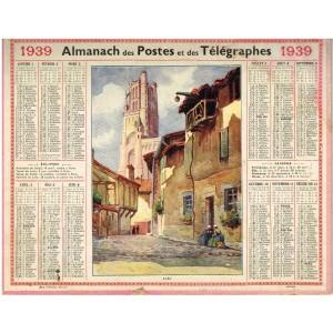CALENDRIER ALMANACH 1939 - ALBI