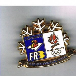 PIN'S J.O. ALBERVILLE 92 - ANTENNE2 FR3  METAL EMAILLE