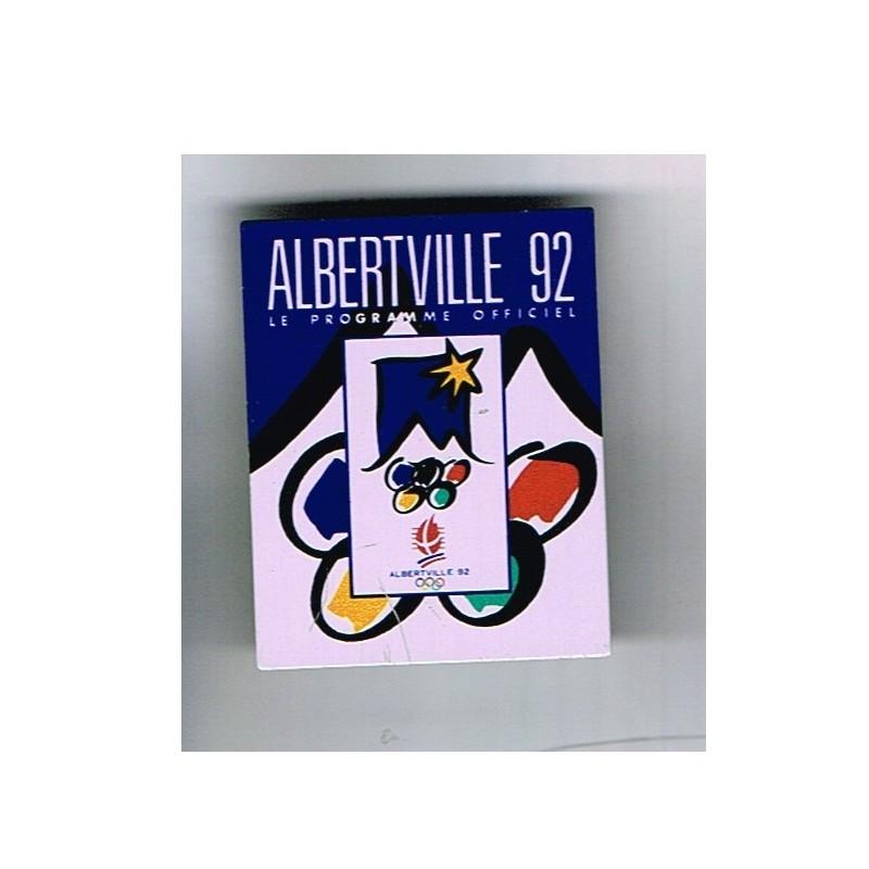 PIN'S J.O. ALBERVILLE 92 - LE PROGRAMME OFFICIEL METAL.