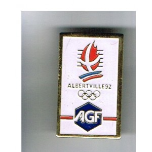 PIN'S J.O. ALBERTVILLE 92 - AGF METAL EMAILLE
