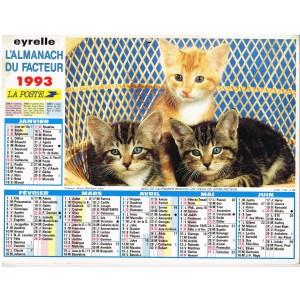 CALENDRIER ALMANACH DU FACTEUR 1993 - CHATS
