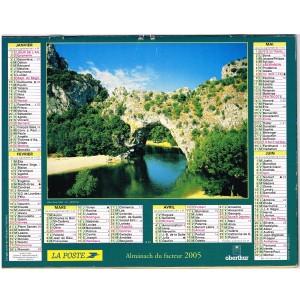 CALENDRIER ALMANACH DU FACTEUR 2005 - PAYSAGES