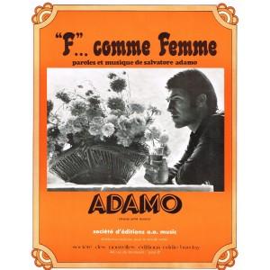 """PARTITION ADAMO - """"F""""... COMME FEMME"""