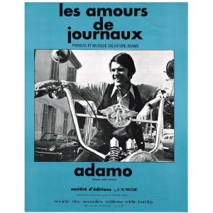 PARTITION ADAMO - LES AMOURS DE JOURNAUX