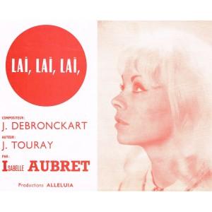 PARTITION DE ISABELLE AUBRET  - LAI, LAI, LAI
