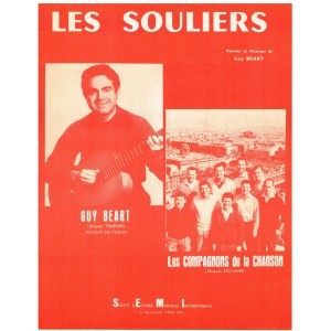PARTITION DE GUY BEART - LES SOULIERS