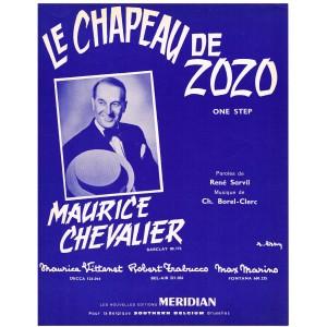 PARTITION DE MAURICE CHEVALIER - LE CHAPEAU DE ZOZO