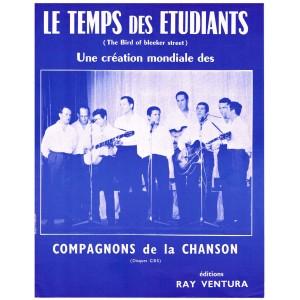PARTITION DES COMPAGNONS DE LA CHANSON - LE TEMPS DES ETUDIANTS