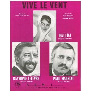 PARTITION DE DALIDA - VIVE LE VENT