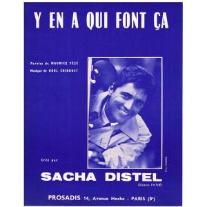 PARTITION DE SACHA DISTEL - Y EN A QUI FONT CA