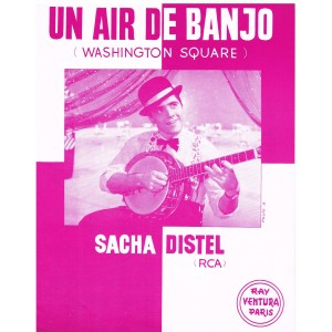 PARTITION DE SACHA DISTEL - UN AIR DE BANJO